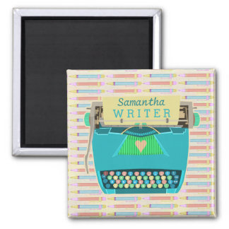 Typewriter Writer Retro Mid-Century Modern Custom Magnet