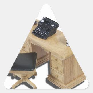 TypewriterBooksDesk111112 copy.png Triangle Sticker