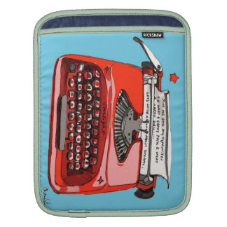 Typewriters Retro Style Rickshaw Sleeve iPad Sleeve