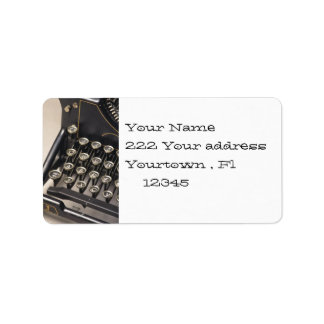 typewritter  Address Label