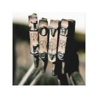 typewritter Love canvas