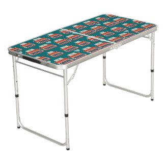 typewritter pong table