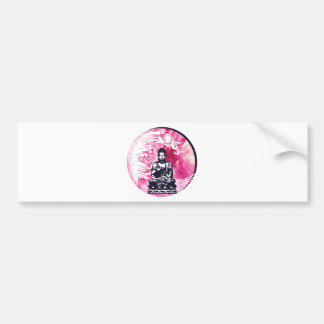 Typhoon Buddha Wave Bumper Sticker