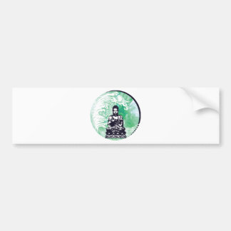Typhoon Buddha Wave Emerald Smoke Bumper Sticker