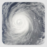 Typhoon Choi-wan south of Japan, Pacific Ocean Square Sticker
