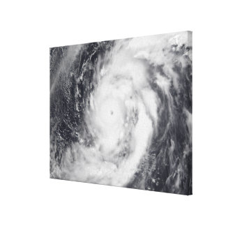 Typhoon Damrey in the western Pacific Ocean Canvas Print