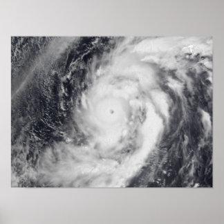 Typhoon Damrey in the western Pacific Ocean Poster