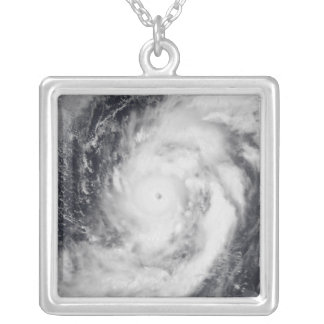 Typhoon Damrey in the western Pacific Ocean Silver Plated Necklace