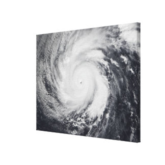 Typhoon Faxai in the western Pacific Ocean Canvas Print