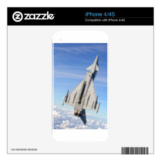 Typhoon Fighter Jet Skin For iPhone 4