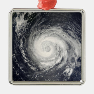 Typhoon Fitow Metal Ornament