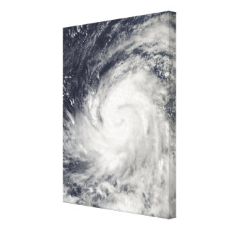 Typhoon Lupit over the western Pacific Ocean Canvas Print