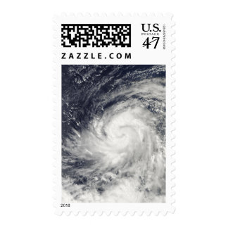 Typhoon Lupit over the western Pacific Ocean Postage