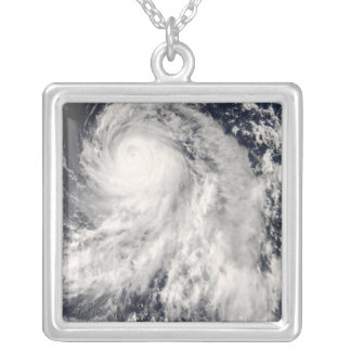 Typhoon Nakri off Japan Silver Plated Necklace