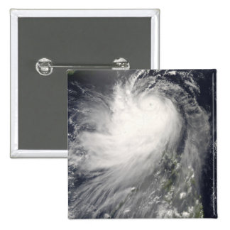 Typhoon Nuri over the Philippine Islands 2 Inch Square Button
