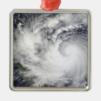 Typhoon Parma 2 Square Metal Christmas Ornament