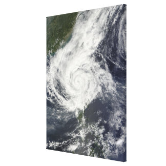 Typhoon Parma Stretched Canvas Print