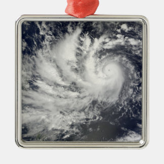 Typhoon Parma heading westward Square Metal Christmas Ornament
