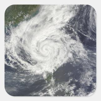 Typhoon Parma Square Stickers