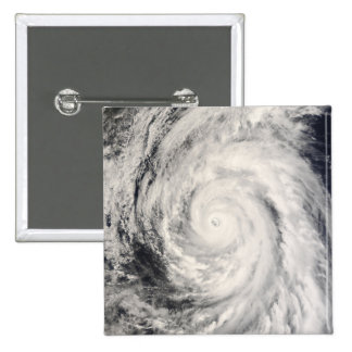 Typhoon Rammasun in the Philippine Sea 2 Inch Square Button