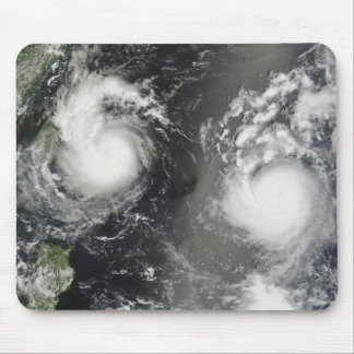 Typhoon Saomai and Tropical Storm Bopha Mouse Pad