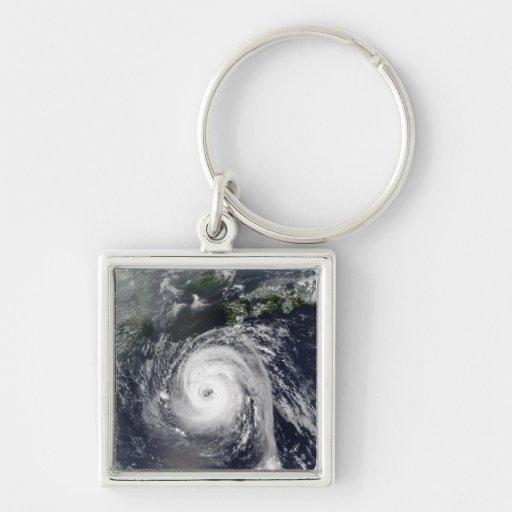 Typhoon Sinlaku 2 Silver-Colored Square Keychain