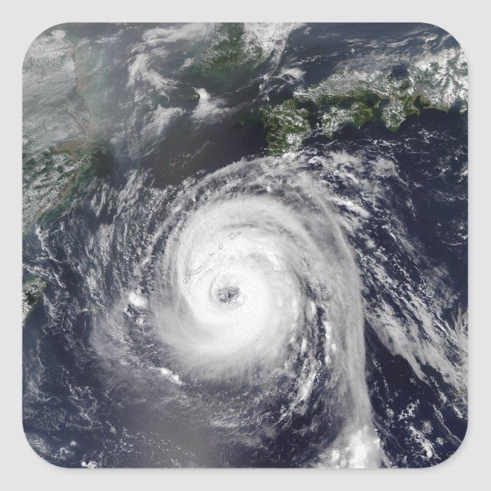 Typhoon Sinlaku 2 Square Sticker