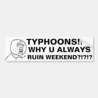 TYPHOONS!!!!! BUMPER STICKER