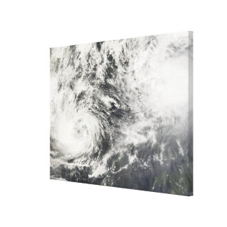 Typhoons Mitag and Hagibis Canvas Print