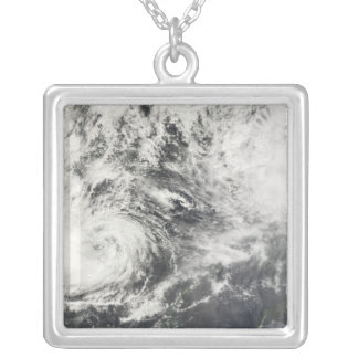 Typhoons Mitag and Hagibis Silver Plated Necklace