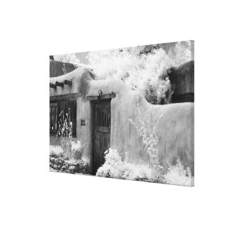 Typical adobe door and entryway in Santa Fe, New Canvas Print
