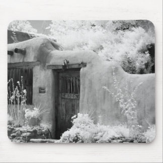 Typical adobe door and entryway in Santa Fe, New Mousepad