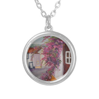 typical alentejo houses personalized necklace