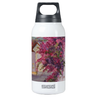 typical alentejo houses 10 oz insulated SIGG thermos water bottle