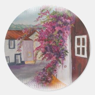typical alentejo houses classic round sticker