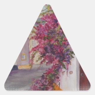typical alentejo houses triangle sticker