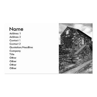 Typical azorean basalt house business card