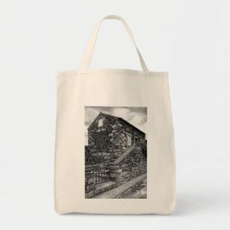 Typical azorean basalt house tote bag
