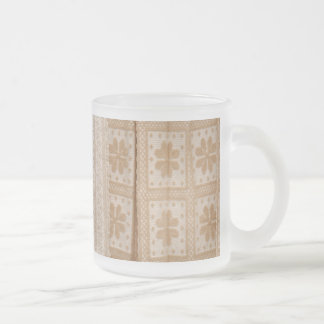 Typical azorean blanket frosted glass coffee mug