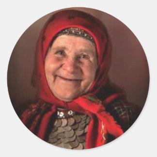 Typical Babushka Round Stickers