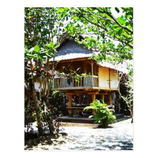 Typical Bali bungaloo Postcard