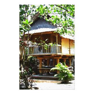 Typical Bali bungaloo Stationery