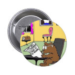 Typical Beaver Last Will & Testament Pinback Button
