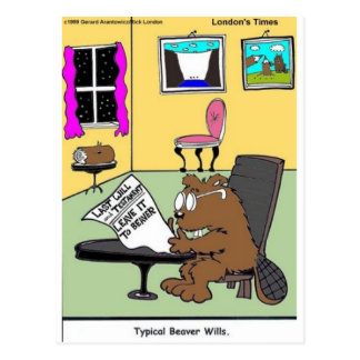 Typical Beaver Last Will & Testament Postcards