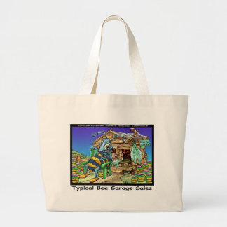 Typical Bee Garage Sales Funny Gifts & Tees Large Tote Bag
