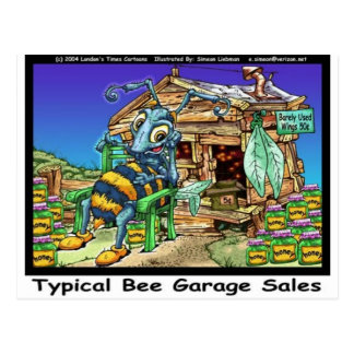Typical Bee Garage Sales Funny Gifts & Tees Postcard