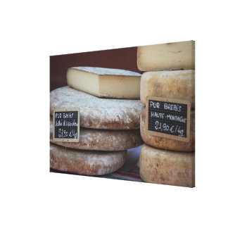 typical cheeses of pyrenees canvas print
