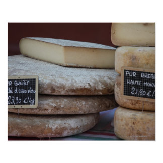 typical cheeses of pyrenees poster