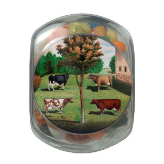 Typical Cows Glass Jar