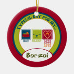 Typical Day for my Borzoi | Ornament